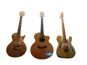 les paul telecaster and 12 string