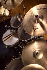 Drum kit side overhead